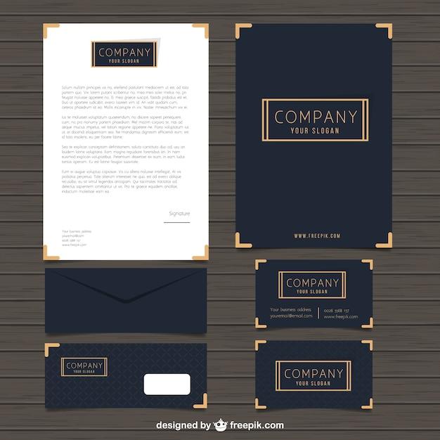 elegant business stationery vector free download