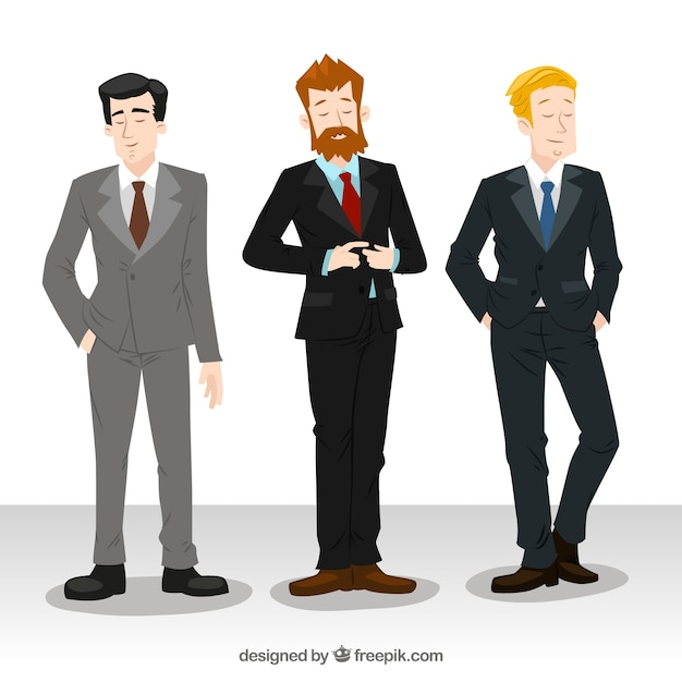 Elegant businessmen Premium Vector