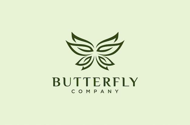 Элегантный логотип бабочки Premium векторы