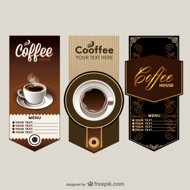 The elegant cafe menu price table vector Free Vector