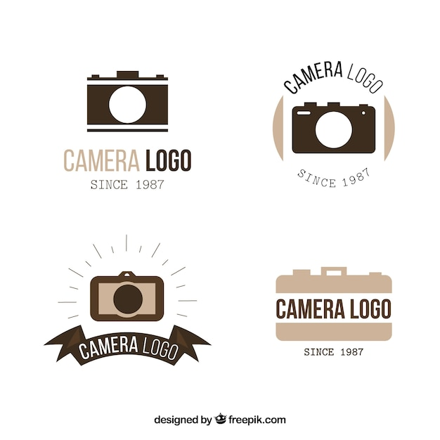 Elegant camera logo collection