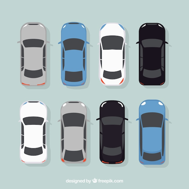 Elegant cars collection Free Vector