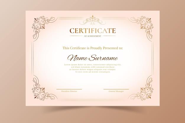 Elegant certificate appreciation template Free Vector