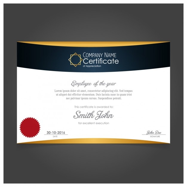 elegant certificate design vector free download