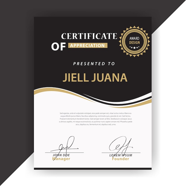 elegant certificate design vector free download