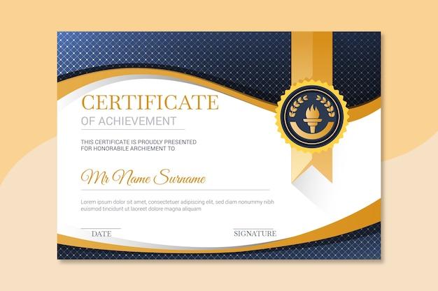 Elegant certificate template for university Premium Vector