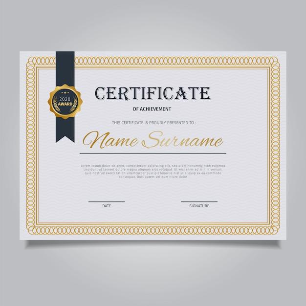Elegant Marriage Certificate Template Golden Edition: Elegant Certificate Template With Vintage Gold Ornament
