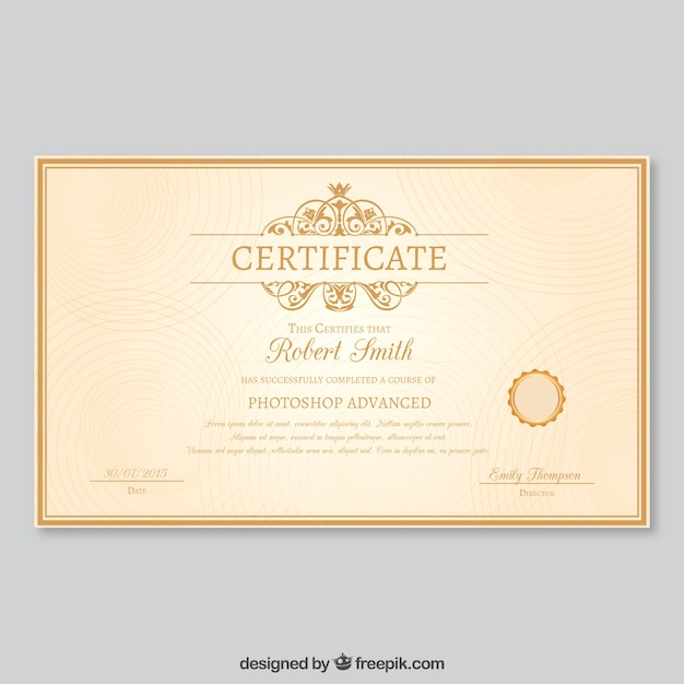 completion certificates templates free download