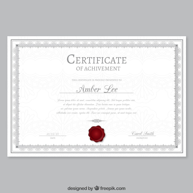 Elegant certificate template Vector Free Download
