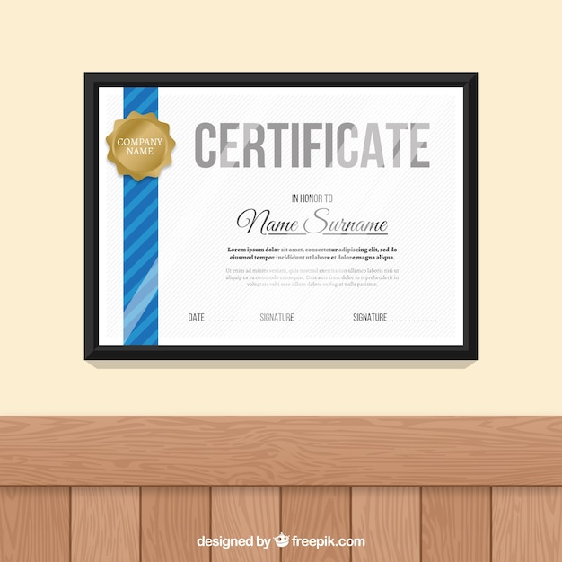 Elegant certificate template vector free download elegant certificate template free vector yadclub Image collections