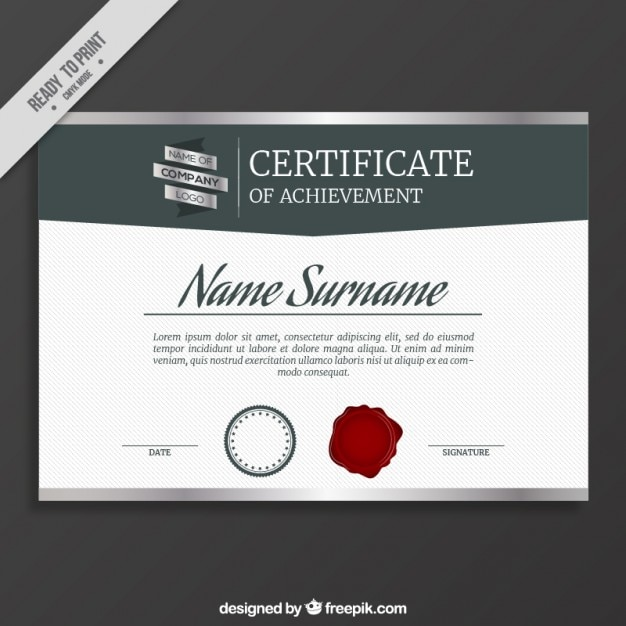Elegant certificate template vector free download elegant certificate template free vector yelopaper Images