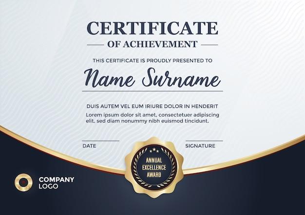 elegant certificate with golden details vector free download