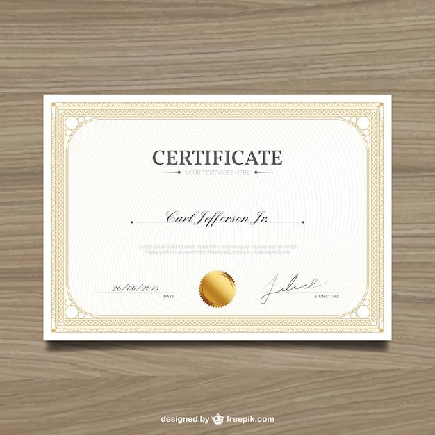 Elegant certificate Free Vector