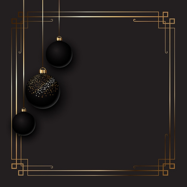 Elegant christmas background with baubles Free Vector