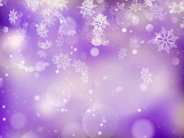 エレガントなクリスマスの背景に雪、テキストのための場所。 Premiumベクター