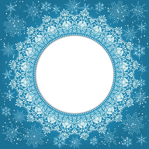 Elegant Christmas Background Images.Elegant Christmas Background With Snowflakes And Place For
