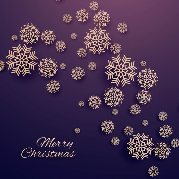 Elegant christmas background with snowflakes Free Vector