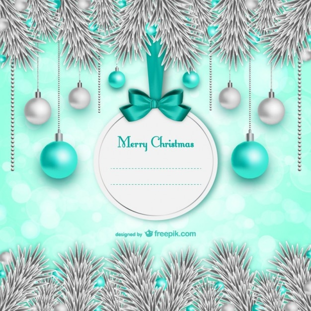Elegant Christmas Card Template Vector Free Download - Christmas postcard template