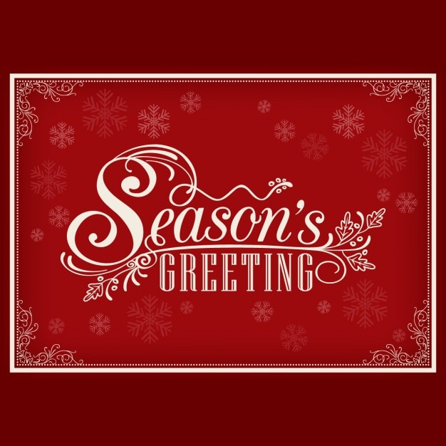 Elegant christmas card with lettering vector free download elegant christmas card with lettering free vector m4hsunfo