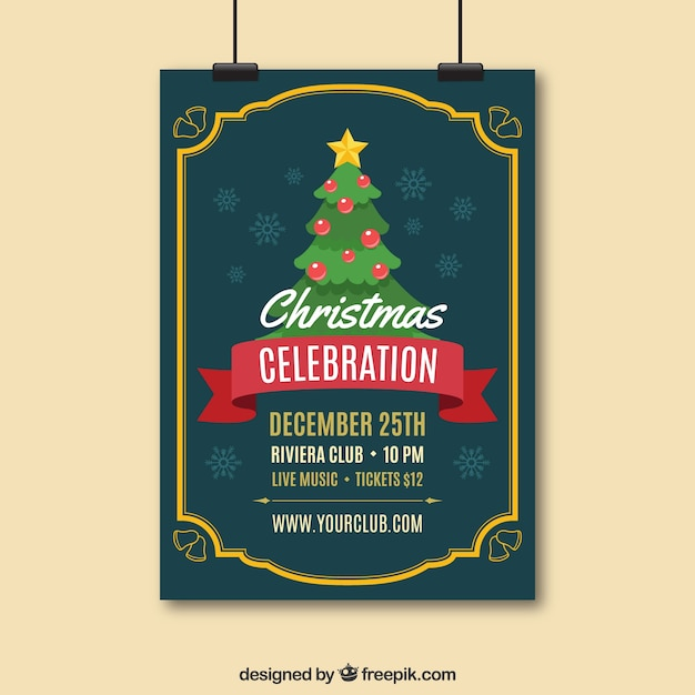 Elegant Christmas Flyer Template Vector Free Download