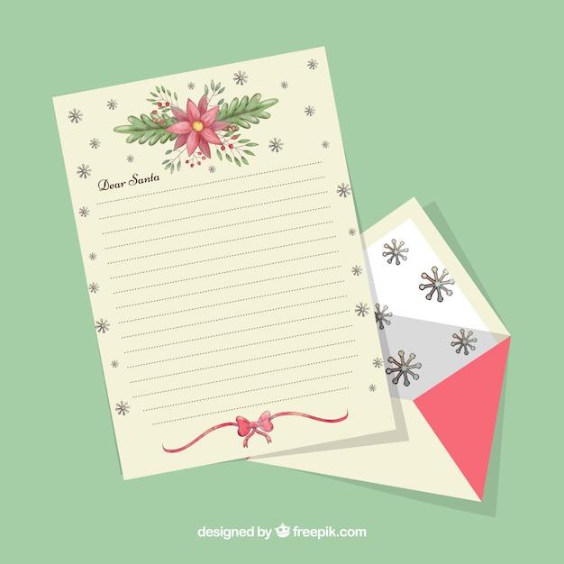 Elegant Christmas Letter Template Free Vector  Christmas Letter Template Free