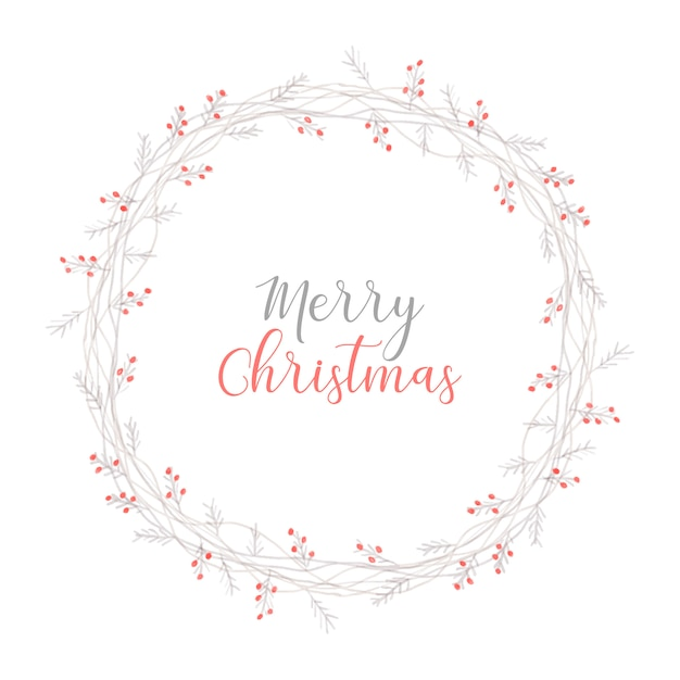 Elegant christmas wreath Free Vector