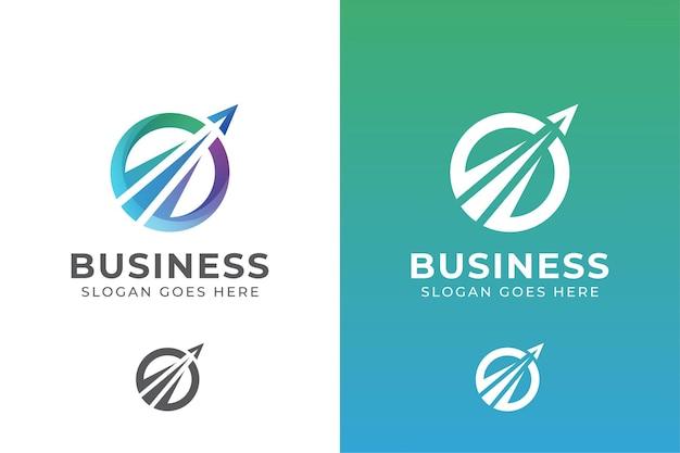 Elegant circle business logo. business travel agency logo Premium Vector