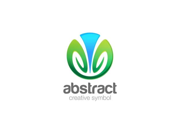 Icona del logo del cerchio elegante. Vettore gratuito