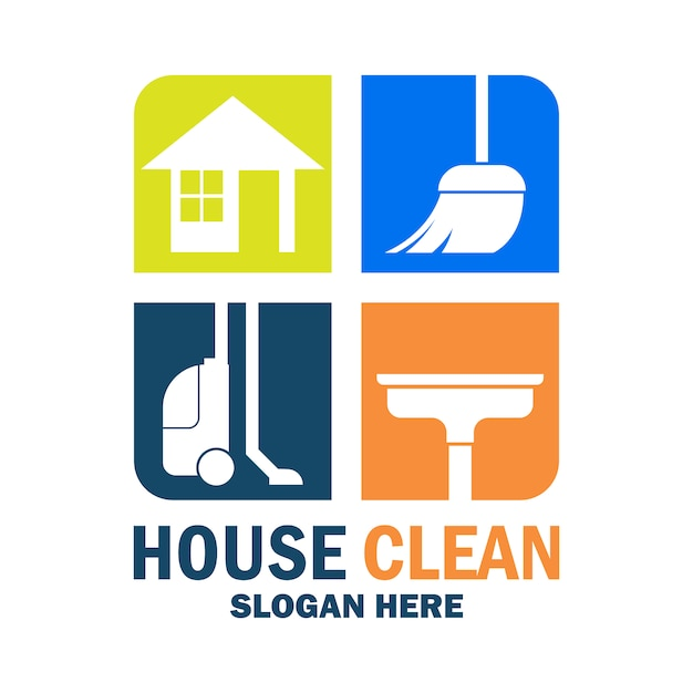 Elegant cleaning logo Premium Vector