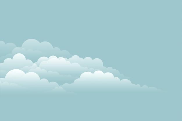 Elegant cloud background on blue sky design Free Vector