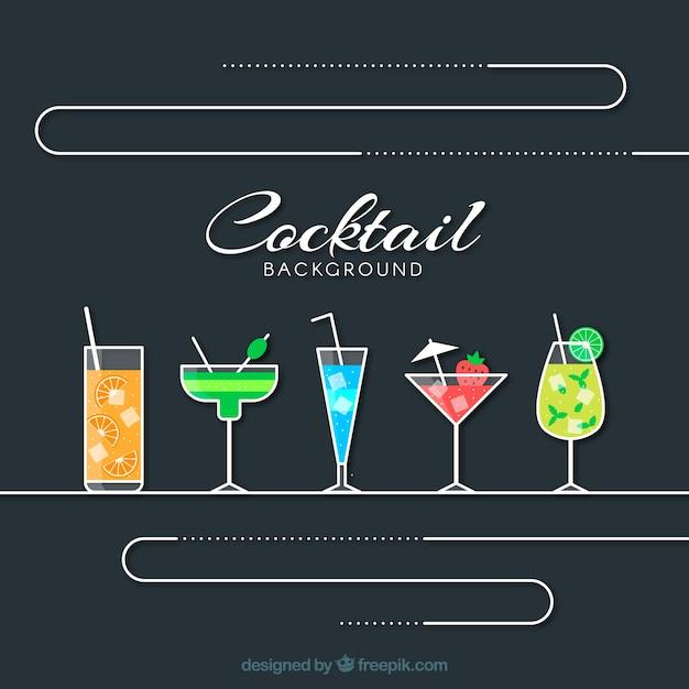 elegant cocktail background vector free download