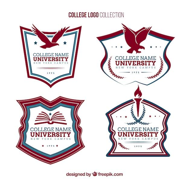 Elegant College Logos Free Vector