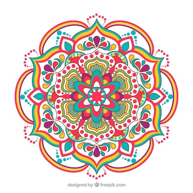 Elegant colorful mandala background Free Vector