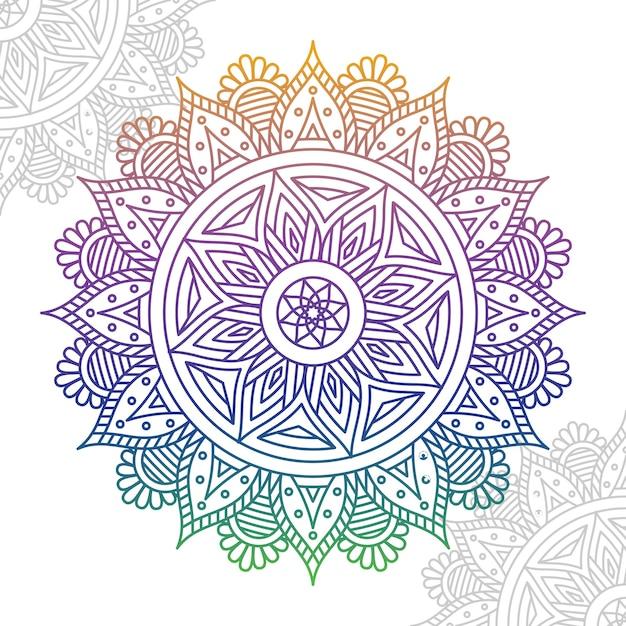 Elegant colorful mandala Premium Vector