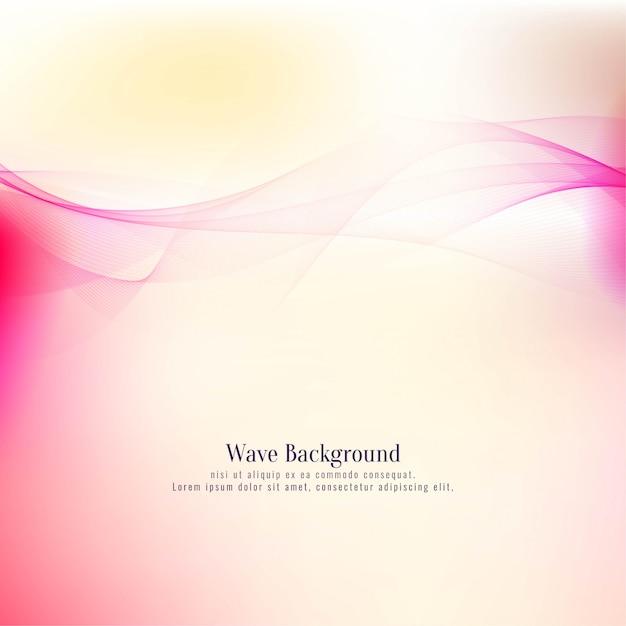Elegant colorful stylish wave background Free Vector