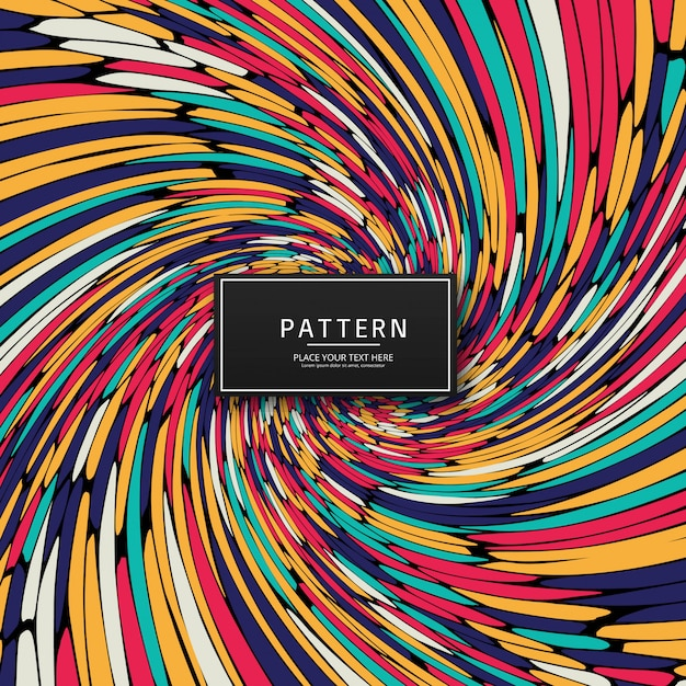 Elegant colorful swirl pattern background Free Vector
