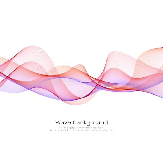 Elegant colorful wave background Free Vector