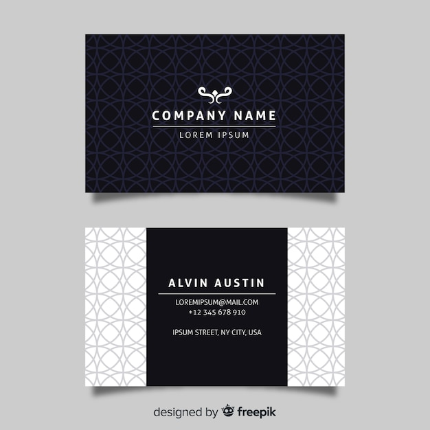 Elegant company card template Free Vector