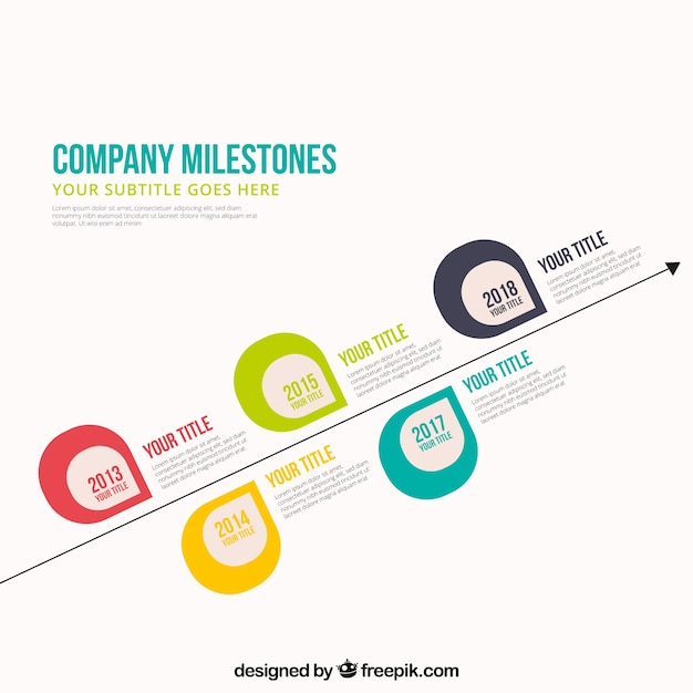 Elegant company time line template