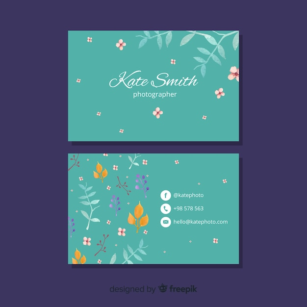 Elegant concept business card template Free Vector