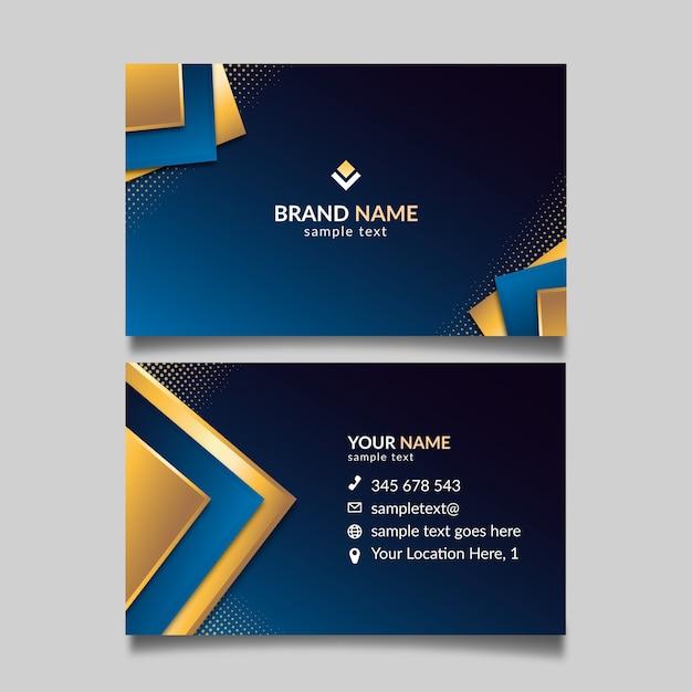Elegant concept for business card template Premium Vector