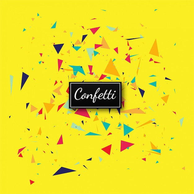 Elegant confetti yellow background vector Free Vector