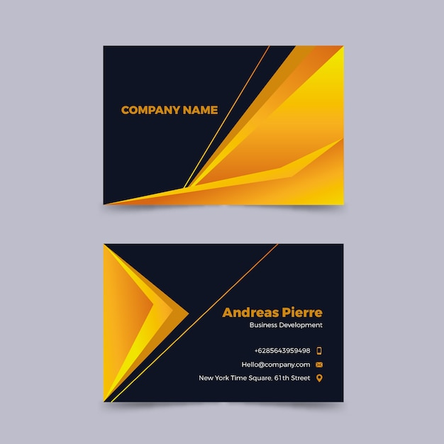 Elegant corporate business card Free Vector