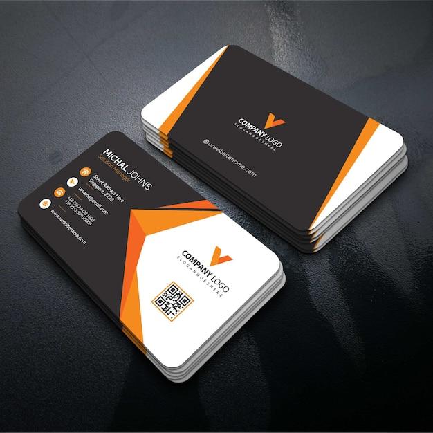 Elegant corporate card Free Vector