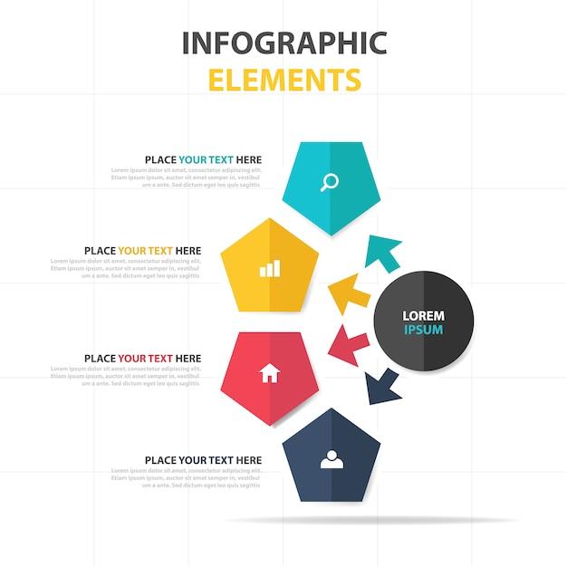 Elegant Creative Business Infographic Template Vector