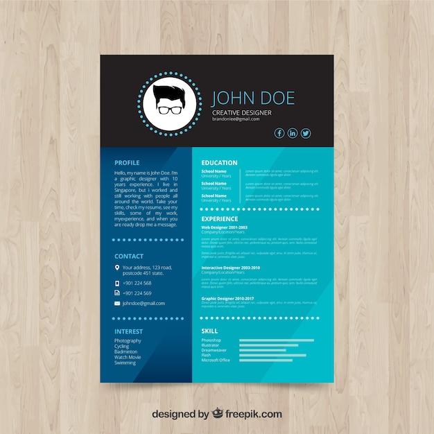 Elegant Creative Designer Resume Free Vector  Creative Design Resume