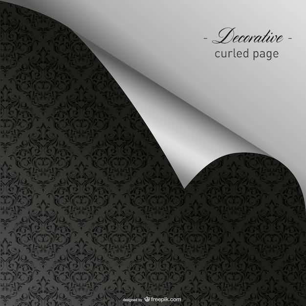 Elegant curled dark wallpaper vector free download for Dark elegant wallpaper