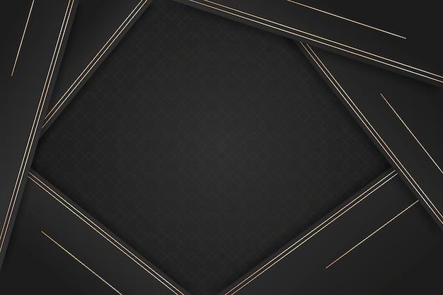 Elegant dark background with golden details Free Vector