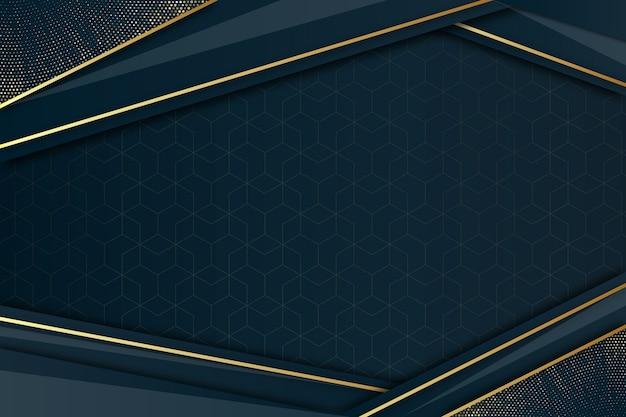 金色のディテールとエレガントな暗い背景 Premiumベクター