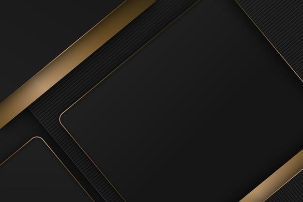 Элегантный темный фон с золотыми деталями Бесплатные векторы